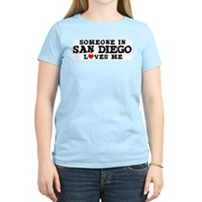 San Diego: Loves Me Women's Pink T-Shirt