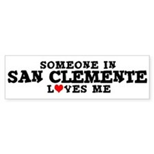 San Clemente: Loves Me Bumper Bumper Sticker
