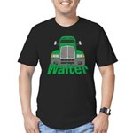 Trucker Walter Men's Fitted T-Shirt (dark)