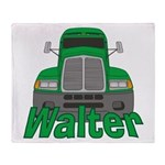 Trucker Walter Throw Blanket