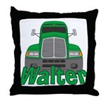 Trucker Walter Throw Pillow