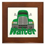 Trucker Walter Framed Tile