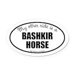American Bashkir Curly Horse Oval Car Magnet
