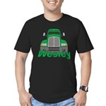 Trucker Wesley Men's Fitted T-Shirt (dark)