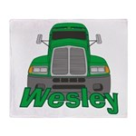 Trucker Wesley Throw Blanket