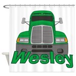 Trucker Wesley Shower Curtain