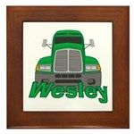 Trucker Wesley Framed Tile