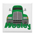 Trucker Wesley Tile Coaster