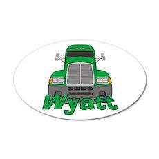 Trucker Wyatt 38.5 x 24.5 Oval Wall Peel