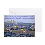 Torah from Jerusalem Greeting Card