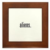 Aliens Framed Tile