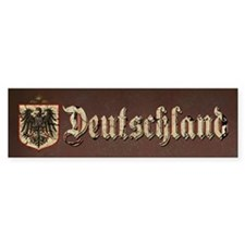 German Imperial Eagle Distressed Bumper Sticker