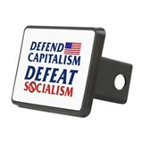 Defend Capitalism Rectangular Hitch Cover
