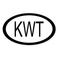 Kuwait Car Sticker / Decal (Oval)