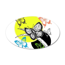 OYOOS Butterfly design 22x14 Oval Wall Peel