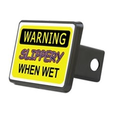 WARNING! Slippery When Wet Hitch Cover