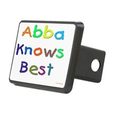 Jewish Abba Knows Best Rectangular Hitch Cover