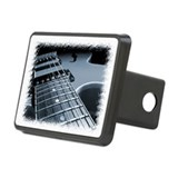 Electric Guitar 1 Blue Rectangular Hitch Cover