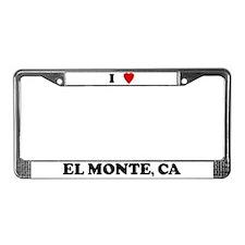 I Love El Monte License Plate Frame