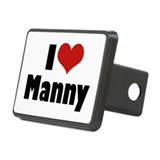 I Love Manny Rectangular Hitch Cover