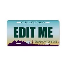 Aluminum License Plate Arizona 1