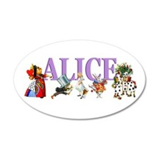 Alice In Wonderland 38.5 x 24.5 Oval Wall Peel
