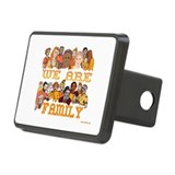 Jewish We Are Family Rectangular Hitch Cover