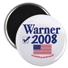 Mark Warner Vote Blue 2008 Magnet