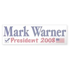Mark Warner Vote Blue 2008 Bumper Bumper Sticker