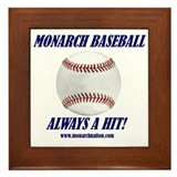 Monarch Baseball Framed Tile
