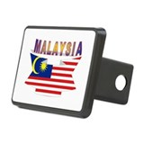 Malaysia flag ribbon Rectangular Hitch Cover