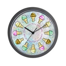Cute Ice cream cone Wall Clock