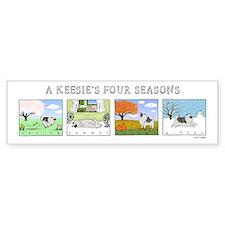 The Four Seasons Keeshond Bumper Sticker