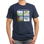 The Four Seasons Keeshond Men's Fitted T-Shirt