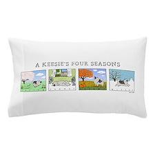 The Four Seasons Keeshond Pillow Case