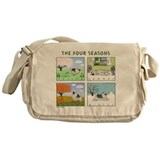 The Four Seasons Keeshond Messenger Bag
