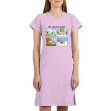 The Four Seasons Keeshond Women's Nightshirt