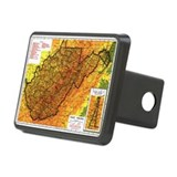 Map of West Virginia Rectangular Hitch Cover
