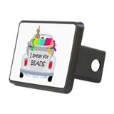 I brake for beads Rectangular Hitch Cover