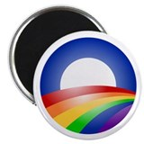 Cute Obama rainbow Magnet