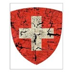 Swiss Coat of Arms Distressed Small Poster