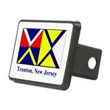 Trenton NJ Flag Rectangular Hitch Cover