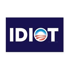 Obama Idiot Parody Rectangle Car Magnet