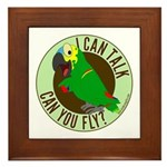 I Can Talk, Can You Fly? Blue Fronted Amazon Frame