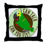 I Can Talk, Can You Fly? Blue Fronted Amazon Throw