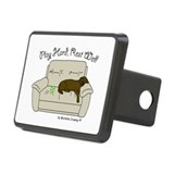 Chocolate Lab - Play Hard Rectangular Hitch Coverl
