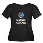 LGBT for Obama Women's Plus Size Scoop Neck Dark T