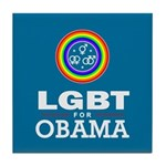 LGBT for Obama Tile Coaster