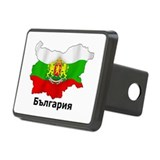 Bulgaria flag map Rectangular Hitch Cover