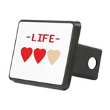LIFE (hearts) - Rectangular Hitch Cover